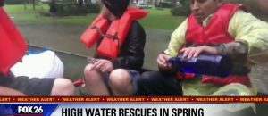 HILARIOUS! Rescued Flood Victims Passing Around Shots - News anchor's reaction is so funny!